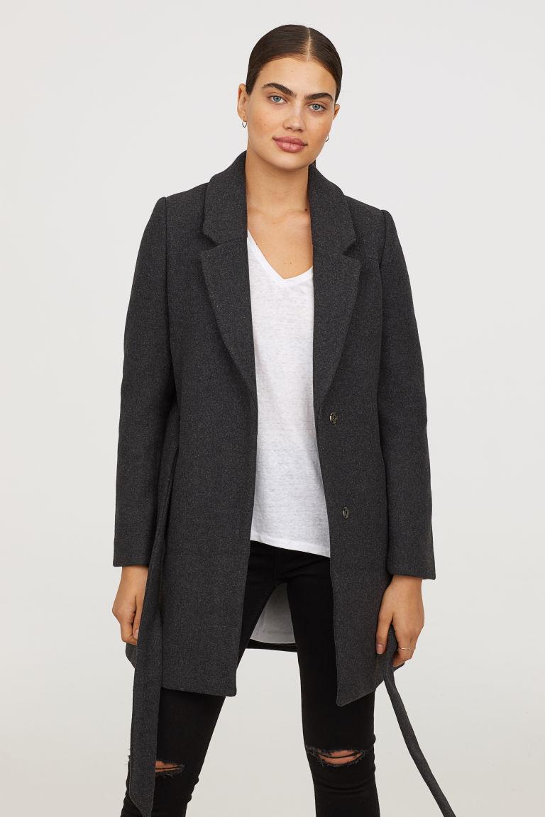 ベルテッドコート H&M