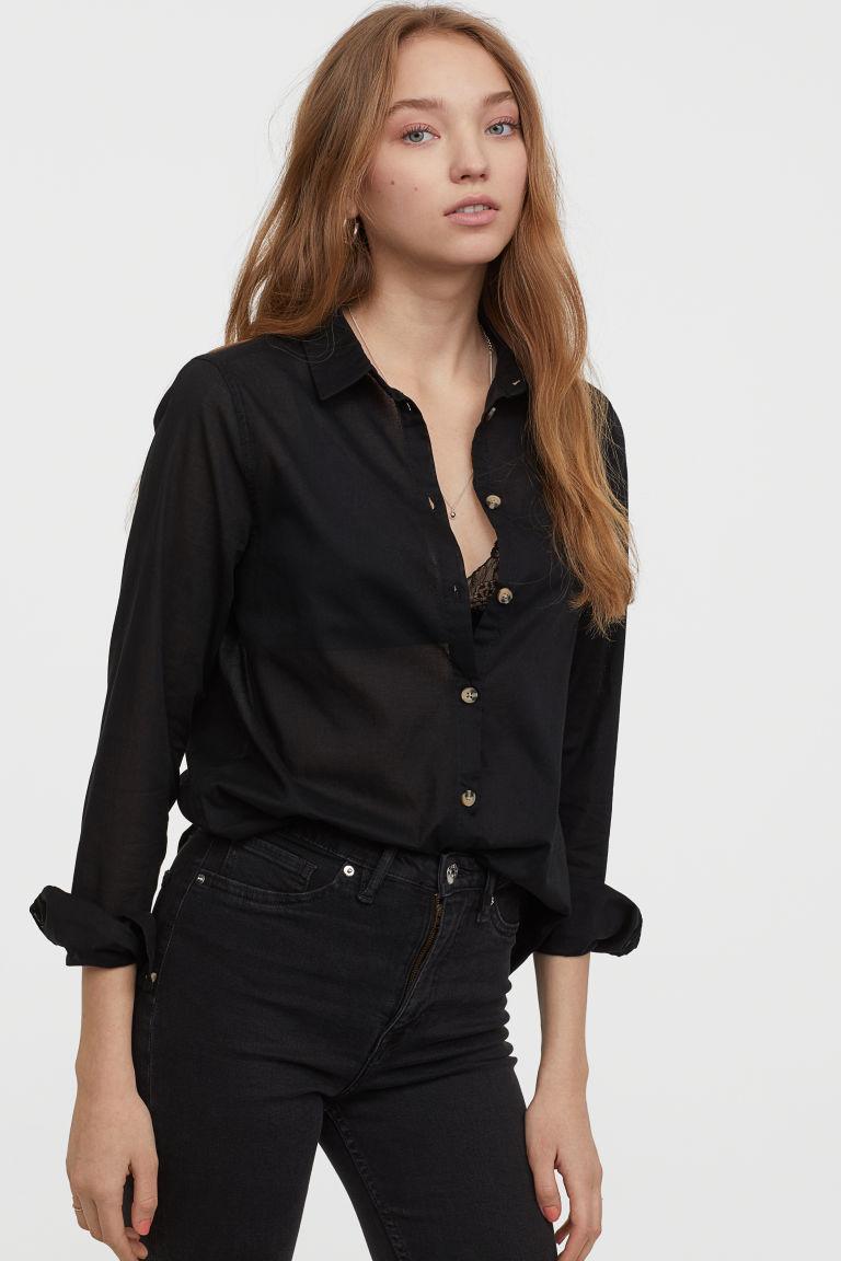 コットンシャツ H&M